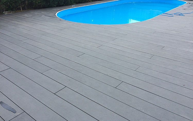Black Composite Decking Boards - Techwoodn