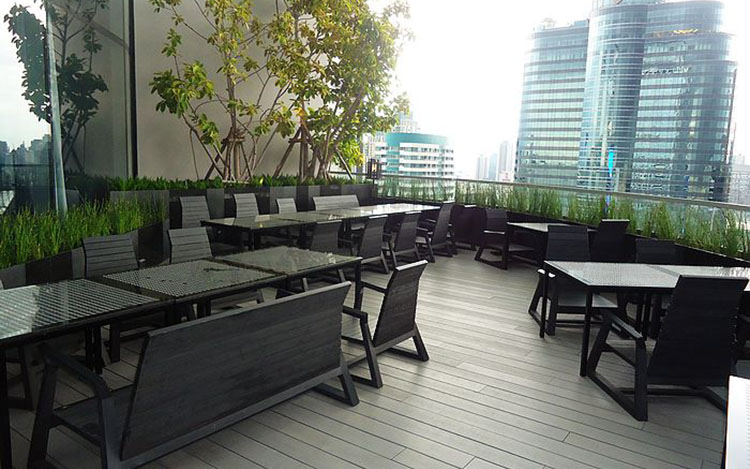 WPC Decking Outdoor Dining Areas