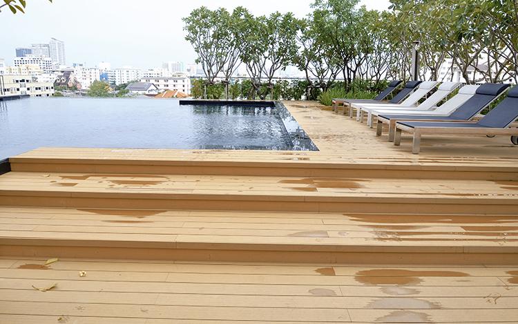 composite decking slippery