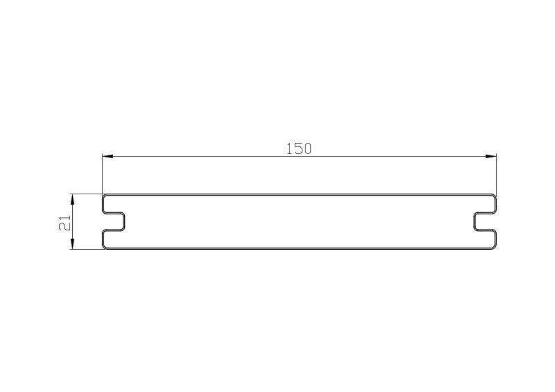 21mm x 150mm Capped Solid Composite Decking Size