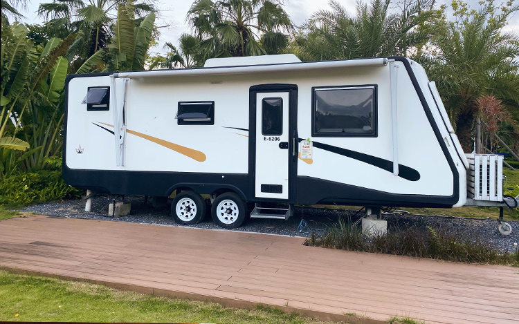 wpc decking at camp site or RV park
