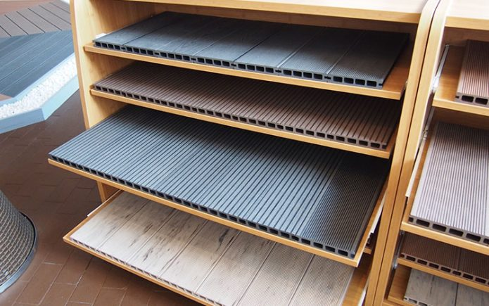 What is the weight of composite decking